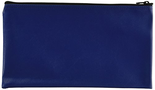 MMF Industries Leatherette Zipper Wallet, 3 Wallets per Pack, Blue, 11 x 6 Inches (234110638)