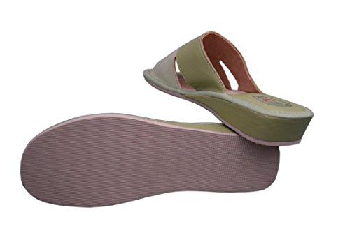 Natleat Slippers  16,  Mädchen Damen Sandalen Grün