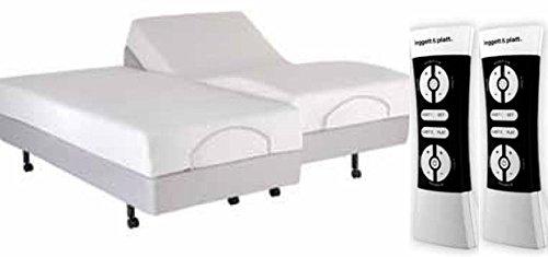 NEW LEGGETT & PLATT S-CAPE PERFORMANCE MODEL WITH WHITE GLOVE DELIVERY (SPLIT KING, GREY) (White Delivery Furniture Glove)