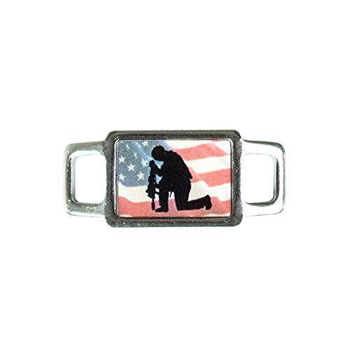 - Paracord Planet USA Military Rectangle Charms - Assorted Styles and Branches of The Military Available - Perfect for Paracord Bracelet, Lanyard, Keychain (Air Force Blue)