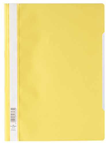 Yoke Oil - Durable HUNKE & Yoke Preview Folder Polypropylene for Standard A4227x 310mm, Yellow
