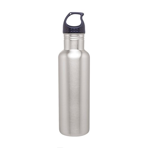 Stainless Steel Water Bottle Canteen - 24oz. Capacity - Brushed Stainless