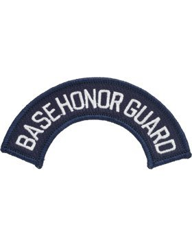 Usaf Base (Base Honor Guard Full Color White on Navy Tab)