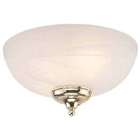Monte Carlo MC49-L Dome Bowl Light Kit with Brushed Steel and White Finish Bowl Caps, White Faux Alabaster Finish