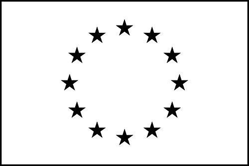magFlags Large Flag Variant of The European Emblem for Monochrome Reproduction Source http //Publications | Landscape Flag | 1.35m² | 14.5sqft | 90x150cm | 3x5ft - 100% Made in Germany - l
