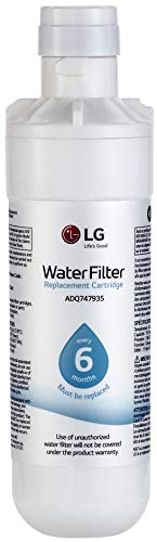 LG LT1000P Refrigerator Water Filter, Filters up to 200 Gallons of Water, Compatible with Select l LG French Door and Side-by-Side Refrigerators with SlimSpace Plus Ice System (Best French Door Refrigerator With Water Dispenser)