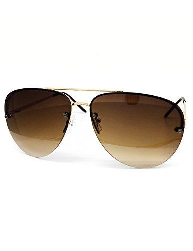 O2 Eyewear 3111 Tint Lenz Teardrop Rimless Metal Frame Womens Mens Aviator Sunglasses (Rimless, - Sunglasses Tints