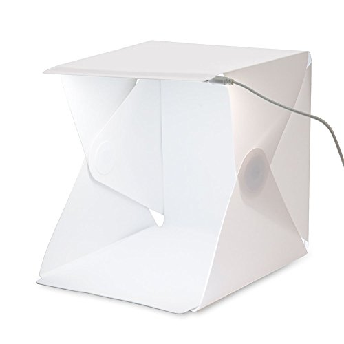 SLFC Folding Portable Lightbox Studio - Take Pictures Like a Pro on the Go with a Smartphone or DSLR Camera built-in Light Photo Box 22.6cm x 23cm x 24cm ()
