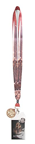 Bioworld Assassin's Creed Blade Print Movie Charm Lanyard