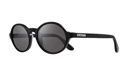 Revo RE 1052 Bailer Crystal Lenses Polarized Oval Sunglasses, Matte Black Graphite, 52 mm