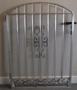 RAW ALUMINUM ORNAMENTAL GARDEN GATE - - Gates Aluminum Ornamental