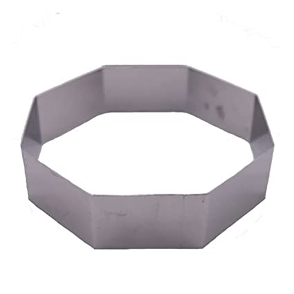 Fat Daddio's Stainless Steel Octagon Cake and Pastry Ring, 1.75 Inch x .75 Inch Fat Daddio's ROC-3131