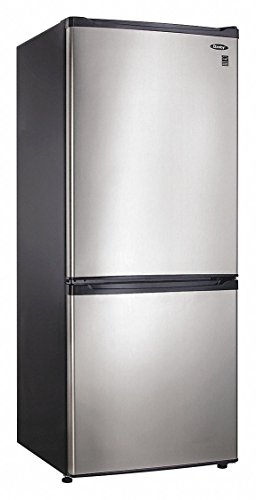 9.2 Cu. Ft. Bottom Mount Freezer- Black with Stainless Steel (24 Refrigerator Bottom Freezer)