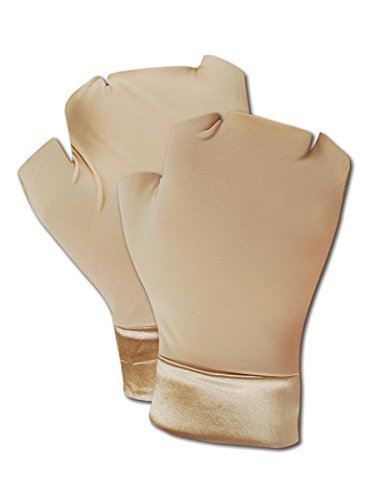 Occunomix MC450S Support Gloves, Fingerless, Nylon/Spandex Hand and Wrist, Small, Beige (One Pair) - Occumitts Support Glove