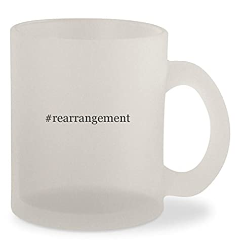 #rearrangement - Hashtag Frosted 10oz Glass Coffee Cup Mug (Thinking Changing Rearranging)