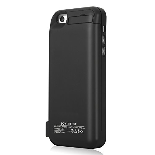 iPhone SE 5S 5C 5 Battery circumstance YISHDA 4200mAh Extended Rechargeable Battery Charging circumstance made in USB ability Bank Capacity for iPhone 5SE 5S 5C 5 Black 18 Month guaranty Battery Charger Cases
