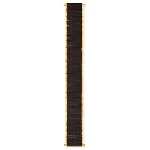 Speidel Men's Stainless Steel Comfortable Stretch Thinline Brown with Gold Watchband 18-22mm, Straight End, No Clasp by Speidel (Image #3)