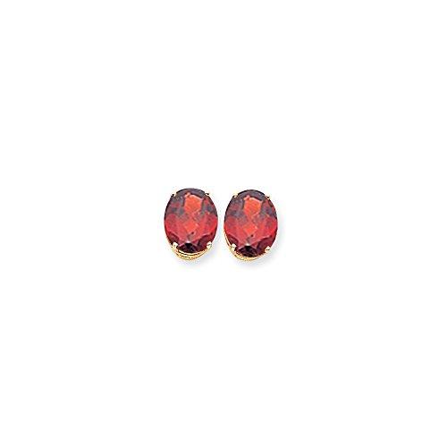 Best Designer Jewelry 14k Oval Garnet Earrings