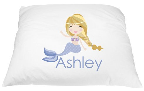 Personalized Blonde Mermaid Pillowcase Microfiber Polyester Standard 20 by 30 (Mario Bros Pumpkin)
