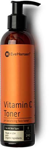 Natural Vitamin C Face Toner - Hydrating, Firming, pH Balancing Facial Toner - 8 Ounces - Eve Hansen