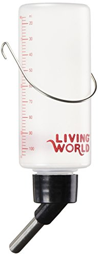 Living World Plastic Leakproof Animal Bottle with Stainless Steel Spout, Small