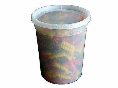 [Pactiv / Newspring 32 oz. (Quart Size) Plastic Freezer Food Storage Deli Soup Container Tubs w/Lids (pack of 24)] (24 Ct Tub)