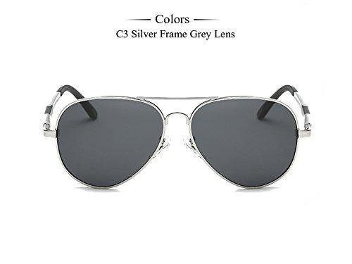 gafas hombre Gafas Silver gafas Accesorios masculino Aluminio Frame Hombre plata de sol sol polarizadas gafas de espejo magnesio C6 TIANLIANG04 C3 de Eyewears 6g1zx