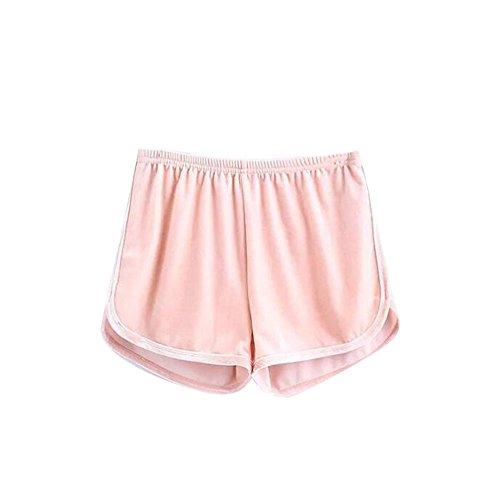 vita Running da Pantaloncini Casual elastica Training con Hot Fashion Summer Rosa Ladies Shorts pants yoga xZqw7B4B