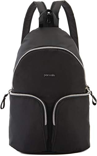 Pacsafe Women's Stylesafe Sling Backpack : Anti-Theft Convertible Sling To Backpack Black One Size (Calfskin Embossed Wallet)