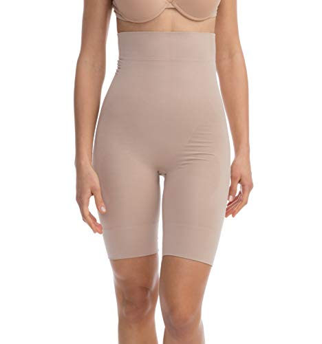 FarmaCell Shape 603 (Nude, S) Women's Compression Capri, Shapewear Girdle