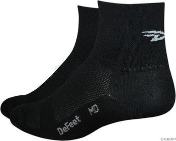 - DEFEET Men's Aerator D-Logo Sock, Black, X-Large