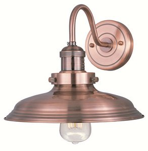 Maxim Lighting 25082ACP/BUI One Light Wall Light, Antique Copper