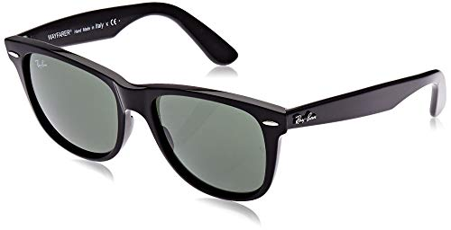 Ray-Ban RB2140 Original Wayfarer Sunglasses, Black/Green, 54 mm (Kinder Rayban)
