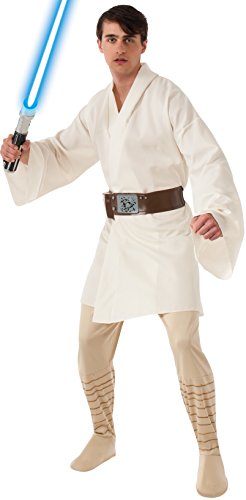 Luke Skywalker Jedi Costume (Rubie's Costume Star Wars A New Hope Deluxe Luke Skywalker, White, One Size)