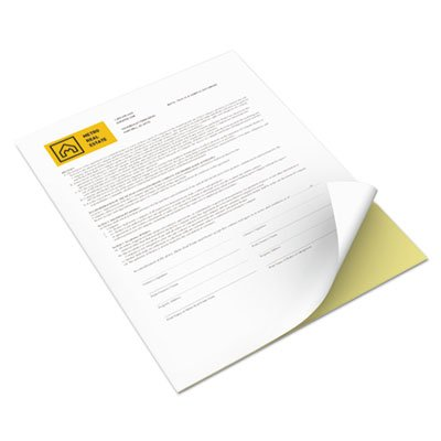 Xerox Premium Digital Carbonless Paper 2-Part Straight Collated White/Yellow, 8.5'' x 11'' (3R12420) by Xerox