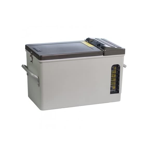 Engel 16 qt. Portable Top-Opening AC/DC Fridge/Freezer 1 Engel MT-17 Portable top-opening 12/24V DC - 110V/120V AC fridge-freezer. Highly Efficient Engel Swing Motor - Low Amp Draws (even at start-up) Typically draws around 1 to 2 Amps per hour on DC.