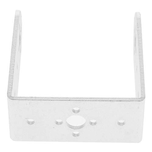 (kesoto Stainless Steel Metal Beam Bracket for Robot Arm/Humanoid Robot/Servo - as described, Long U Bracket Silver)