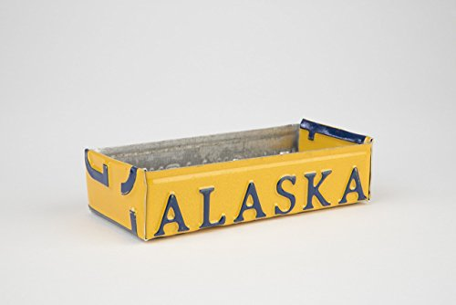 Alaska Box made from an Authentic Alaskan License Plate