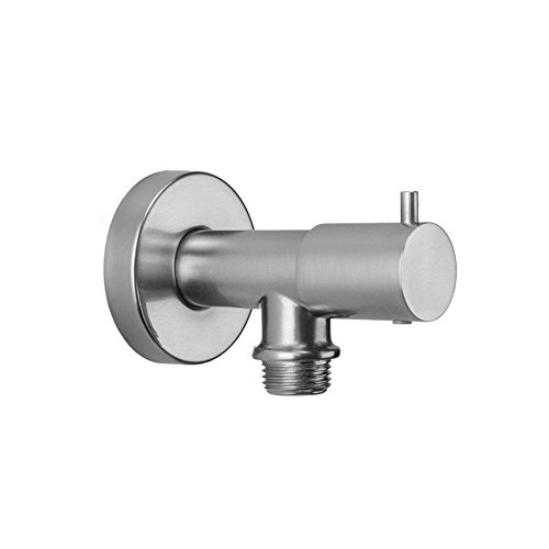 Jaclo 6462-PCH Water Supply Elbow with On/Off Valve, Polished Chrome (Elbow Supply Jaclo Water)