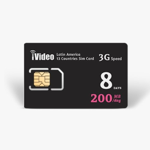 iVideoWiFi Latin America SIM Card Prepaid Unlimited Data (8 days) by iVideoWiFi