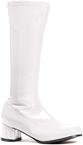 Ellie Shoes Girls White Go Go Boots X-Large