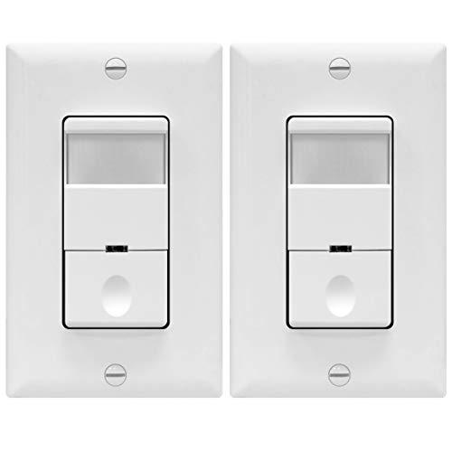 5 Pack Automatic PIR Occupancy Motion Sensor Light Switch TopGreener TSOS5