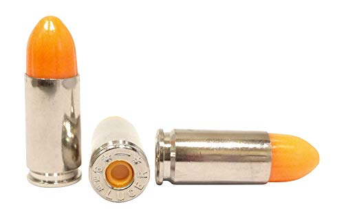 ST Action Pro Inert Safety Trainer Cartridge Dummy Ammunition Ammo Shell Rounds with Nickel Case - Pack of 50 (Orange, 9mm)