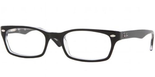 RAY BAN Eyeglasses RB 5150 2034 Black Transparent 50MM