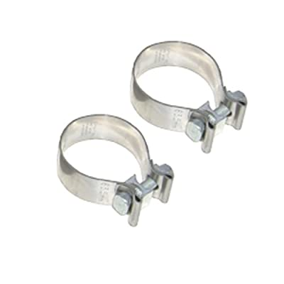 """Pypes Exhaust HVC21 2-1/2"""" Diameter 1"""" Wide Stainless Steel Exhaust Band Clamp"""
