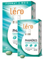 Léro Phanères Hair and Nails 90 Gel-Caps + 30 Gel-Caps Offered by Léro