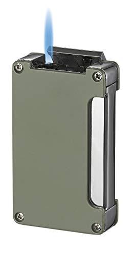 Visol Zidane Green Matte Cigar Lighter with Built-in Cigar Punch