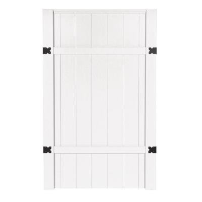 3-1/2 ft. x 6 ft. Windham Walk Through White Vinyl Unassembled Fence Gate
