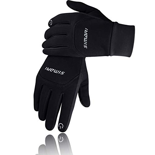 SIMARI Winter Gloves for Men Women,Keep Warm Touch Screen Windproof Cold Weather Gloves for Cycling Running SMRG103(Black M)