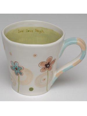 """Live Love Laugh"" Oversized Mug - Natural Life"